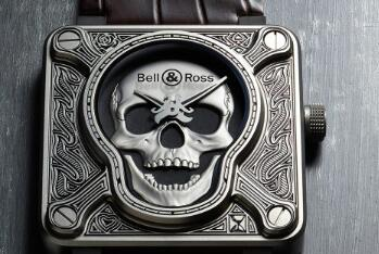 Replika Bell & Ross Instruments BR0192-Skull-Burn