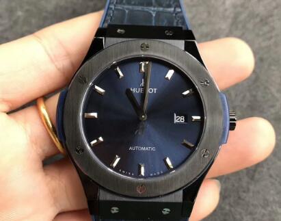 Replika Hublot Classic Fusion 511.NX.7170.LR Ciemnoniebieski Zegarek