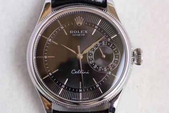 Replika Rolex Cellini Data 50519-0007 Czarny Zegarek