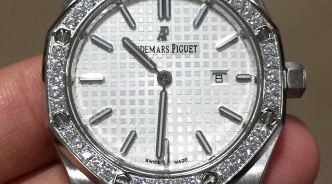 Audemars Piguet Royal Oak 67651ST.ZZ.1261ST.01 Replika Zegarka Ze Srebrną Tarczą I Diamentem