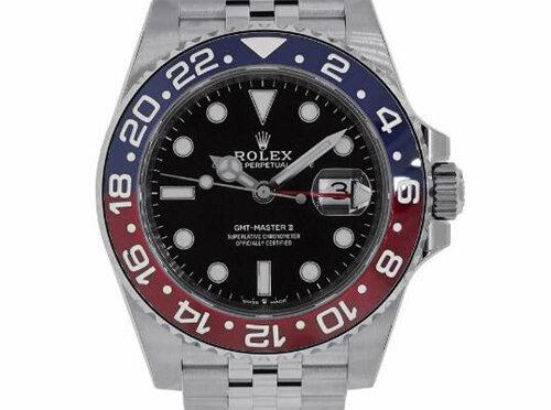 """Top Repliki Zegarek Rolex GMT-Master II 126710BLRO """"Pepsi"""" Czerwono-Niebieska Koperta Z Ceramiczną Kopertą"""